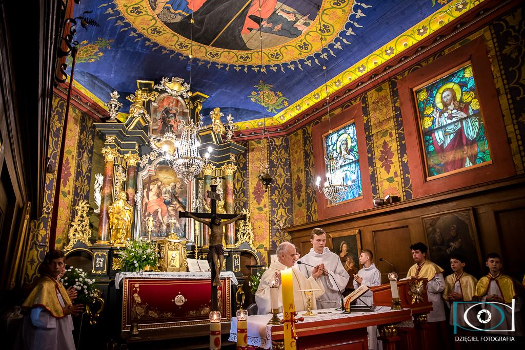 kościół  pw. Św. Sebastiana w Wieliczce - zdjęcia z chrzcin