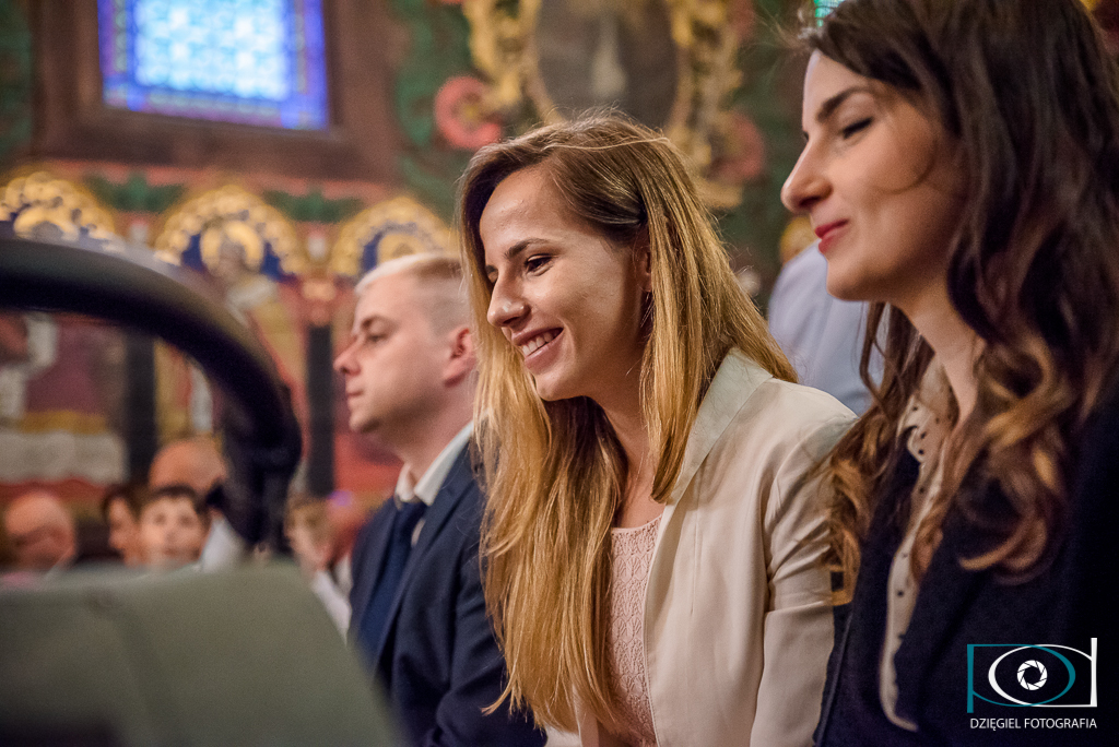 zdjęcia z chrzcin - kościół  pw. Św. Sebastiana w Wieliczce