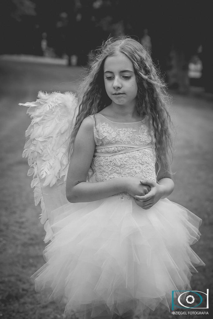 anioł - sesja komunijna