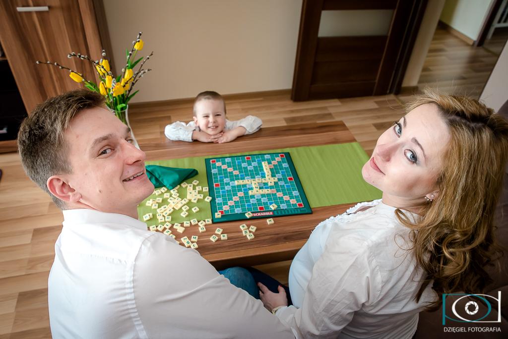 sosnowiec fotograf - Sesja rodzinno-brzuszkowa